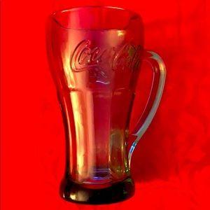 Vintage Coca-Cola thick green glass mug